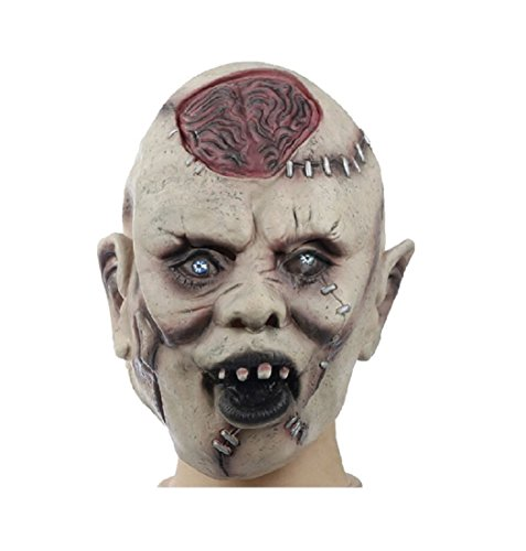 Halloween Masquerade Mask New Horror Skull Face Mask Silicone Horror Ghost Mask Party Cosplay Masks]()