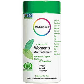 Rainbow Light - Certified Women's Multivitamin, 120 Count, Made With Organic Whole Foods