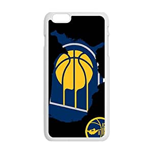 Indiana Pacers NBA White Phone Case for iPhone plus 6 Case