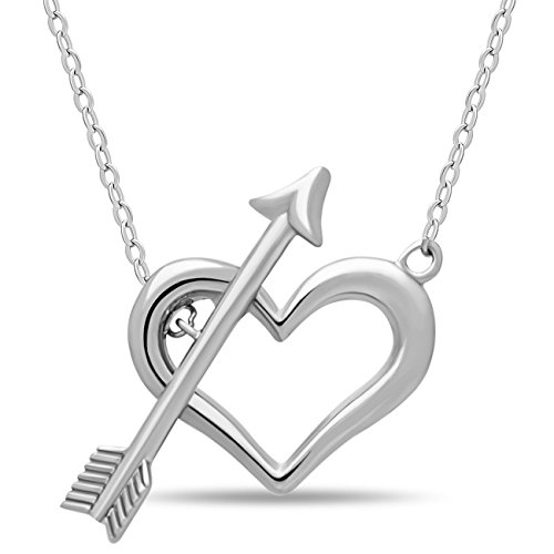 Mother Day Gift 925 Sterling Silver Double Heart Necklace Lariat Necklace - Heart and Arrow Necklace, Silver Y Necklace Two Heart Necklaces Interlocking for Sister or Mother Heart Pendant (Heart Floating Double)