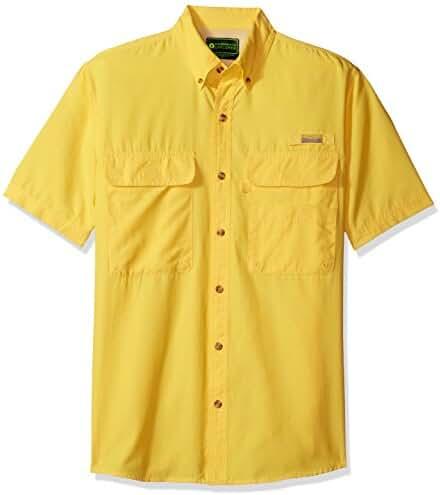 G.H. Bass & Co. Men's Explorer Charter Short Sleeve Solid Fishing Shirt