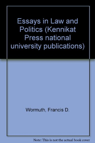 Essays in Law and Politics (Multi-disciplinary studies in law)