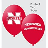 "NCAA Nebraska Cornhuskers Scarlet 10-Pack 11"" Latex Balloons"