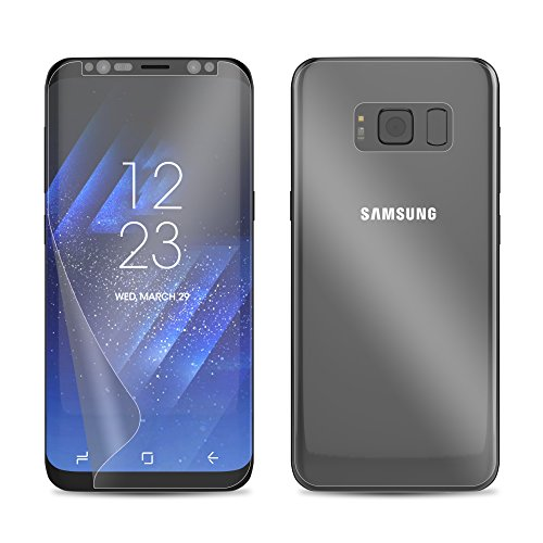 check out c361e 181a4 Galaxy S8 Plus Screen Protector (Front and Back), amFilm Full ...
