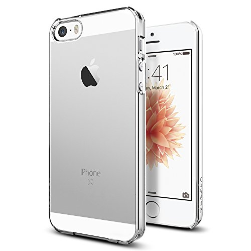 Spigen Thin Fit Designed for Apple iPhone SE Case (2016) - Crystal Clear