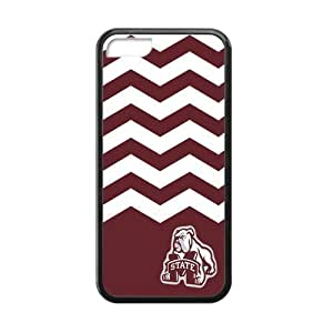 Changetime Funny Fashion NCAA Mississippi State Bulldogs phone case, Mississippi State Bulldogs for iPhone 5C Faceplate Hard Back Protector Case Snap On Cover fits Sprint, Verizon, AT&T Wireless (Laser Technology) hjbrhga1544