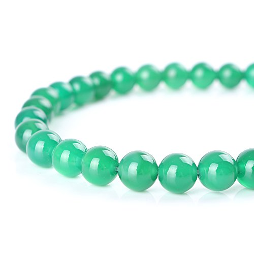 Mallofusa 4MM Green Round Artificial Agate Gemstone Round Loose Beads for Jewelry Making Necklaces Bracelets