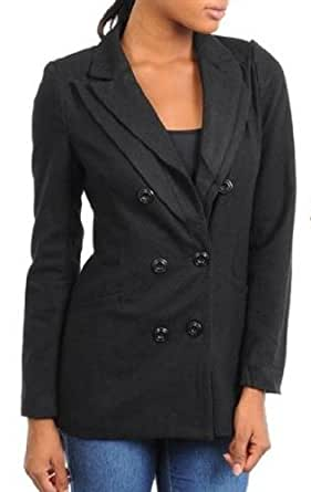 Ooh La La Better B Women's Double Breasted Blazer (small, black)
