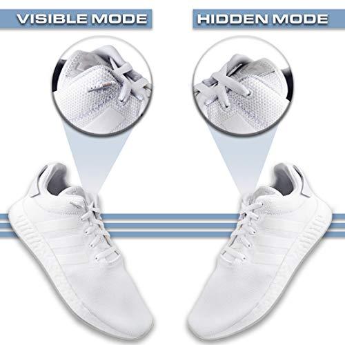 b4e231abecd8 LACEEZ Women s White Elastic No-Tie Shoelace - Flat Laces For Casual ...