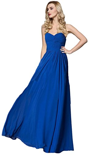 (Meier Women's Strapless Sweetheart Pleated Evening Prom Dress (4, Royal))