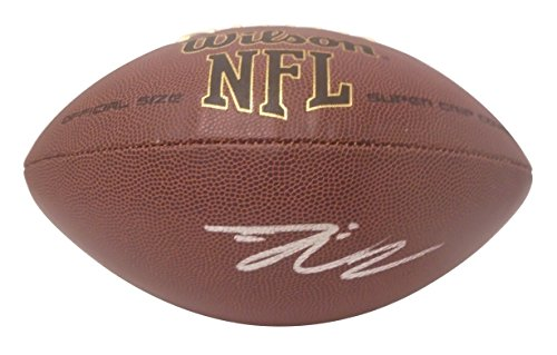 New York Jets Davis Webb Autographed Hand Signed NFL Wilson Football with Proof Photo of Signing, NY Giants, Texas Tech Red Raiders, California Golden Bears, COA- NY Giants Collectibles