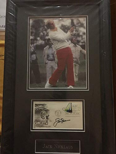 Jack Nicklaus Autographed Signed Framed 1977 Bobby Jones First Day Cover JSA Authentic