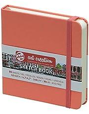Szkicownik Royal Talens Art Creation Hardback szkic 80 arkuszy 140 g/m2 x 12 cm - koralowa czerwona okładka