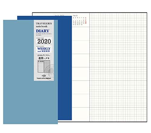 트래블러 스 노트 수첩 리필 2020 년 A5 슬림 주간지 14409006 (2020 년 1 월 시작) / Traveler`s Notebook Refill 2020 A5 Slim Weekly 14409006 (beginning January 2020)