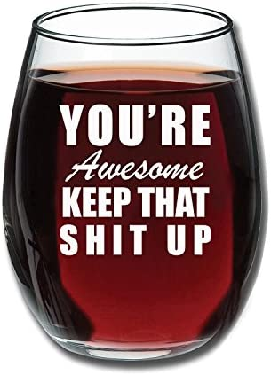 Youre Awesome Funny Stemless Glass product image