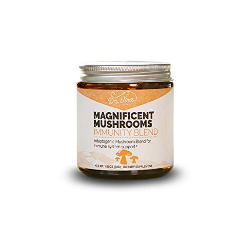 Magnificent Mushrooms (Immunity Blend) Immune, Stress & Inflammation Support, Fight Fatigue & Free Radicals in The Body, Organic, Adaptogen, Agaricus, Maitake, Reishi, Chaga, Turkey Tail, 30 Servings For Sale