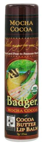 Badger Cocoa Butter Lip Balm-Mocha ()
