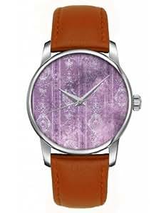 OOFIT SILVER-30-DOTTED-BROWN-A1120+9881 - Reloj para mujeres, correa de cuero color marrón