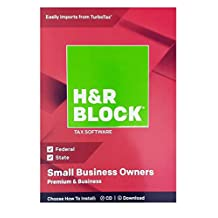H&R Block Premium & Business 2018 Federal + State Tax Software para propietarios de pequeñas Empresas (Windows Vista, 7, 8.1, 10)