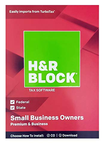 BRAND NEW H/&R Block Premium /& Business 2018 Federal /& State Tax Small Business