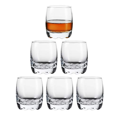 Shot Glasses, Heavy Base Shot Glass Set, Clear Shot Glasses Set of 6