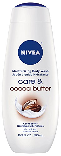 NIVEA Care and Cocoa Butter Moisturizing Body Wash, 16.9 Flu