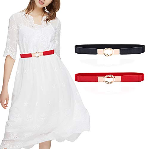 Skinny Belt for Dresses Retro Stretch Ladies Waist Belt Set PS1_ZH2_HH