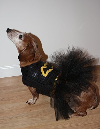 Medium Dog Batgirl Tutu Dress (Batgirl Costumes For Dogs)