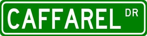 caffarel-family-lastname-street-sign-heavy-duty-9x36-quality-aluminum-sign