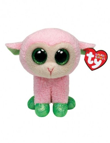 Ty Basket Beanies Babs - Pink Lamb