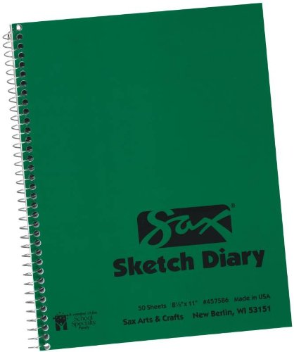 Sax Artists Sketch Diary - 8 1/2 x 11 inches - 50 Sheets per Pad - White