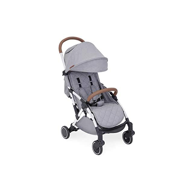 Ickle Bubba Baby Strollers | Lightweight and Portable Stroller Pushchair | Folds Slim for Ultra Compact Storage | UPF 50+ Extendable Hood and Rain Cover | Globe, Grey/Silver