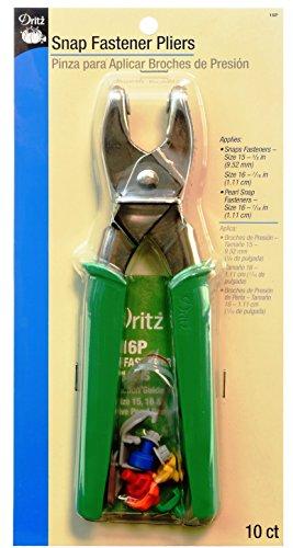 Dritz Snap Fastener Pliers (Replacement Fastener Kit)