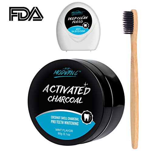 Teeth Whitening Powder Activated Charcoal Teeth Whitening Kit Only $6.50