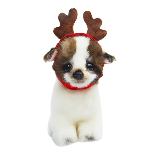 SupremeLife Dog Cat Christmas Reindeer Hat Adjustable Cap Christmas Antlers Wearable Dog Accessories (Dog Halloween Parade Dallas)