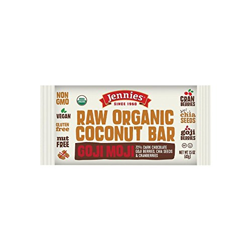 Jennies Bar coconut Goji Moji Raw Organic, 1.5 oz by Jennies