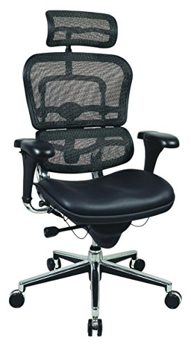 Ergohuman LEM4ERG High Back Mesh Executive Chair, Black