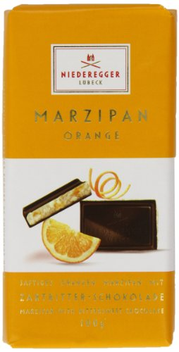Niederegger Orange Chocolate Marzipan Bar 100 g (Pack of 2) by Niederegger