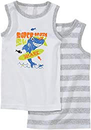 Baby Boy Toddlers 100  Combed Cotton 2 Pack Cartoon Vest Tank Sleeveless Tops
