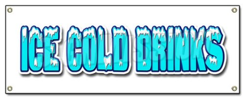 Drink Cart Stand (ICE COLD DRINKS BANNER SIGN drink cart stand beer signs)