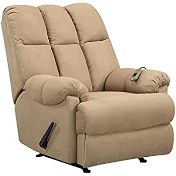 Dorel Living Padded Dual Massage Recliner Tan  sc 1 st  Amazon.com & Amazon.com: Dorel Living Slim Recliner Beige: Kitchen u0026 Dining islam-shia.org