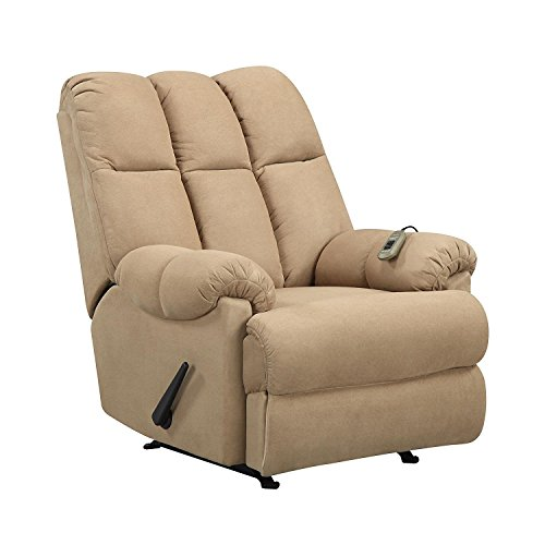Dorel Living Padded Dual Massage Recliner, Tan by Dorel Living