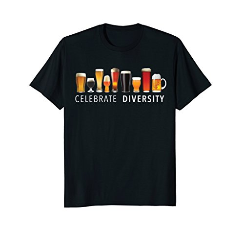 Celebrate Diversity Craft Beer Drinking T-Shirt (Beer T-shirt)