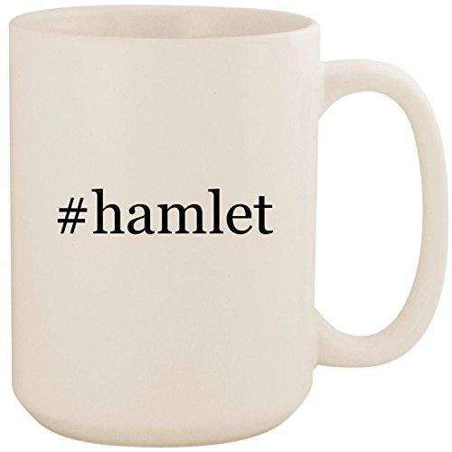 - #hamlet - White Hashtag 15oz Ceramic Coffee Mug Cup