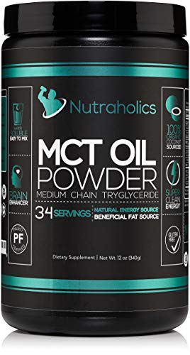 MCT Oil Powder – Keto Diet Coffee Creamer, Paleo Certified, Non-GMO, Gluten Free – 100% Organic Coconut Medium Chain Triglycerides, Ketogenic Super Fuel for Energy and Brain Function