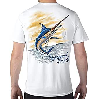 Amazon.com: Englewood Beach, FL Marlin Performance Tech T ...