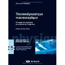 Thermodynamique macroscopique physique