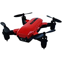 Anyren Wifi Foldable L200 Quadcopter Mini Remote Control Helicopter Drone With 2MP Camera and USB charging (Red, 11.5 11.5 3.5cm)