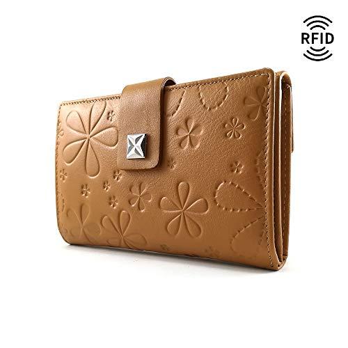 Monedero Mujer, RFID, Cartera Mujer, Hecho España, Casanova, Hecha en Piel de Vaca, Ref. 27616 Mostaza: Amazon.es: Handmade