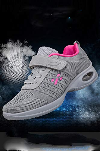 Bottom And Mother Female Middle Shoes Walking Shoes Cushion Dancing Sports Dance sho Square Elderly casual Soft Air gray Aged Shoes Light ag4xpwq